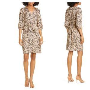 Rebecca Taylor Silk Leopard Print Dress Sz 6